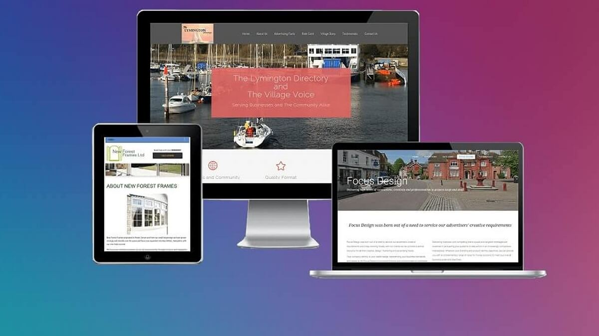 Design, layout and creative production of websites for smallbusinesses