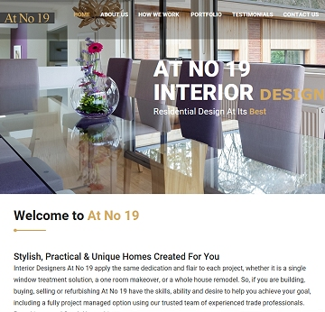 Interior design business portfolio and information website