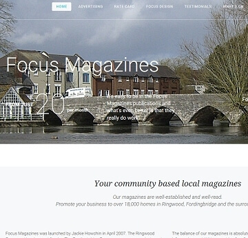 Informative brochure style website for Focus Magaines in Ringwood by Cyber Team