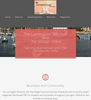 Local community magazine online informative brochure style web content