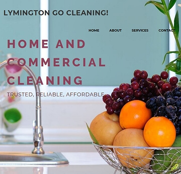 Lymington based cleaning business brochure type website for local business