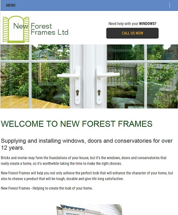 Responsive design New Forest Frames local small business website
